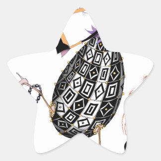 L'oeuf ouvrier d'opale noire, fernandes élégants sticker étoile
