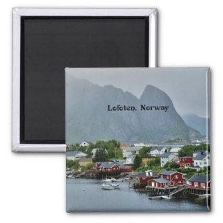 Lofoten, photographie pittoresque de paysage de la magnet carré