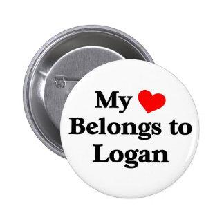 Logan a mon coeur badge rond 5 cm