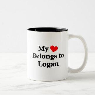 Logan a mon coeur mug bicolore
