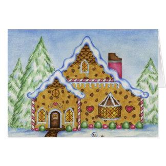 Loge de Chambre de pain d'épice de carte de Noël