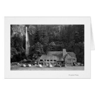 Loge de Multnomah et photographie d'automnes Carte De Vœux