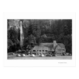 Loge de Multnomah et photographie d'automnes Carte Postale