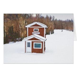 Loge de ski d'hiver cartes