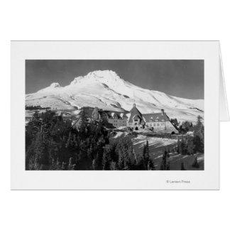 Loge de Timerline et photographie de capot de Mt. Carte De Vœux