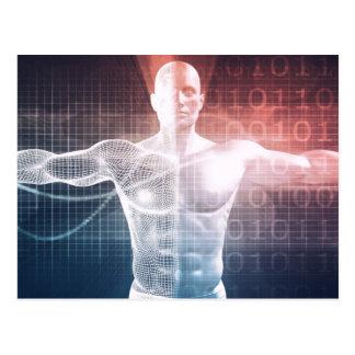 Logiciel médical de technologie comme art carte postale