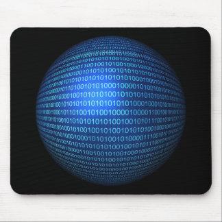 Logique binaire bleue Mousepad Tapis De Souris