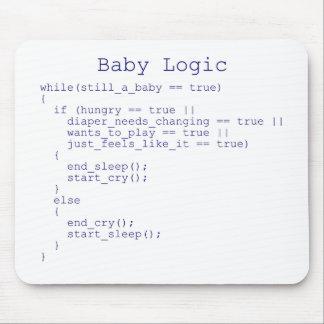 Logique de bébé tapis de souris