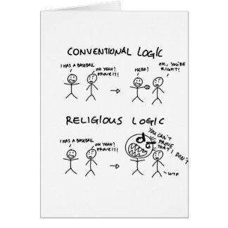 Logique religieuse carte de vœux