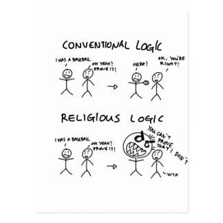 Logique religieuse carte postale
