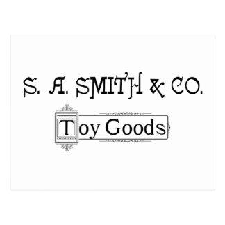 Logo 1888 de marchandises de jouet de S A. Smith Carte Postale
