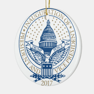 Logo 2017 de penny de Donald Trump Mike Ornement Rond En Céramique