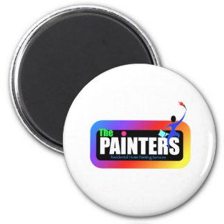 logo 4 de peintre magnet rond 8 cm