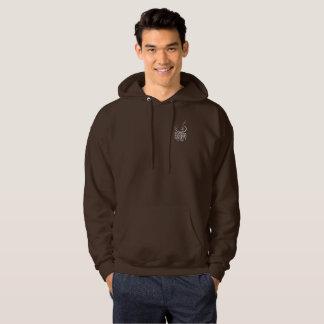 Logo à capuchon foncé unisexe du sweatshirt