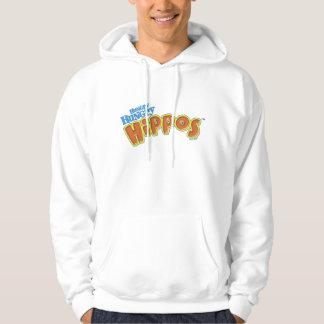 Logo affamé affamé d'hippopotames veste à capuche