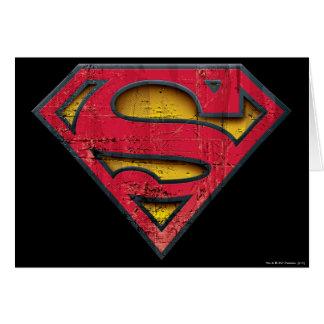 Logo affligé par | de S-Bouclier de Superman Carte De Vœux