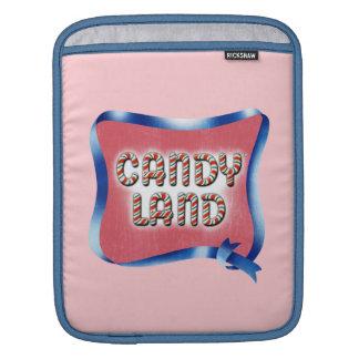Logo âgé par terre de sucrerie housses iPad