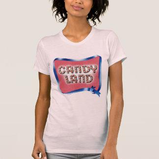 Logo âgé par terre de sucrerie t-shirt