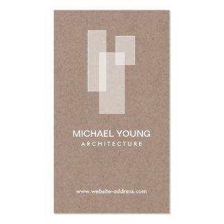 LOGO ARCHITECTURAL BLANC sur Craftboard bronzage Carte De Visite Standard