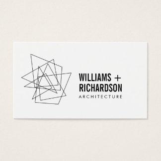 Cartes de visite architecture for Architecture geometrique