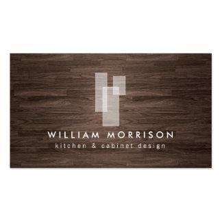 Logo architectural moderne sur la fibre de bois fo carte de visite standard