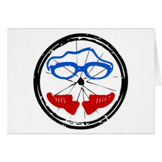 Logo artistique frais de triathlon cartes de vœux