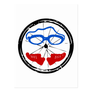 Logo artistique frais de triathlon carte postale