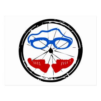 Logo artistique frais de triathlon cartes postales