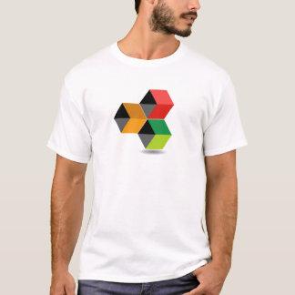 Logo avec les cubes et l'ombre colorés t-shirt