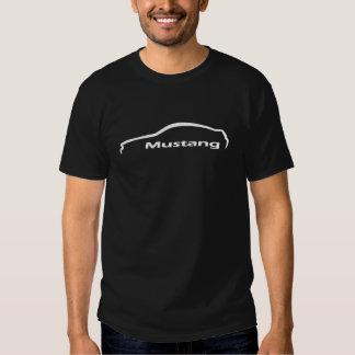 Logo blanc de silhouette de coupé du GT de mustang T-shirts