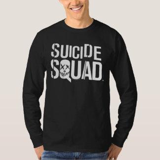 Logo blanc du peloton | de suicide t-shirt