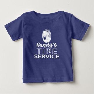 Logo blanc du service   de pneu du T-shirt   Randy