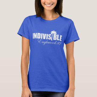 Logo blanc du T-shirt des femmes indivisibles
