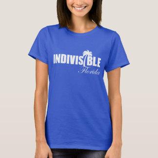 Logo blanc du T-shirt des femmes indivisibles de