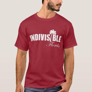 Logo blanc du T-shirt des hommes indivisibles de