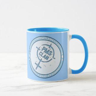 Logo bleu 2 de tasse de PMS