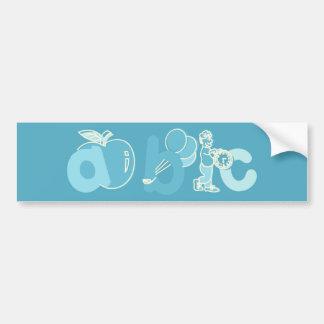 Logo bleu-clair d'alphabet d'ABC pour des garçons Autocollant Pour Voiture
