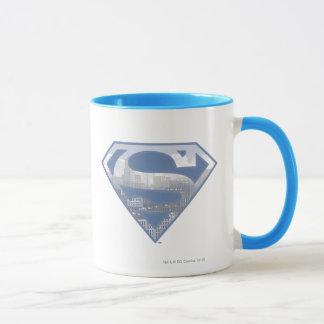 Logo bleu-clair de ville du S-Bouclier | de Mugs