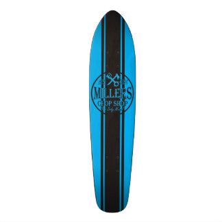 Logo bleu de hot rod de rayures de solides soluble skateboards customisés