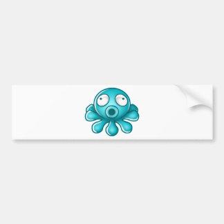 Logo bleu de Japonais de poulpe Autocollant De Voiture