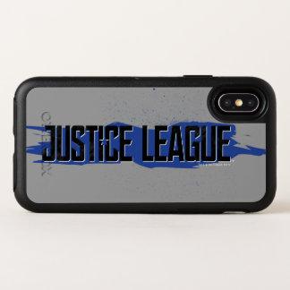 Logo bleu de ligue de justice de course de la