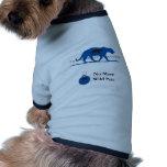 Logo bleu de silhouette manteaux pour chien