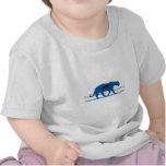 Logo bleu de silhouette t-shirt