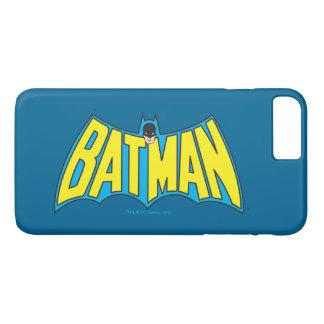 Logo bleu jaune vintage 2 de Batman | Coque iPhone 8 Plus/7 Plus