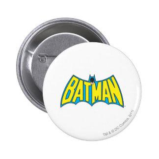 Logo bleu jaune vintage de Batman | Badges