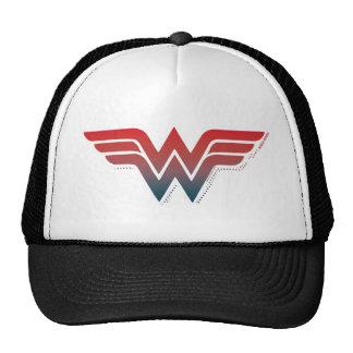 Logo bleu rouge de gradient de femme de merveille casquette de camionneur