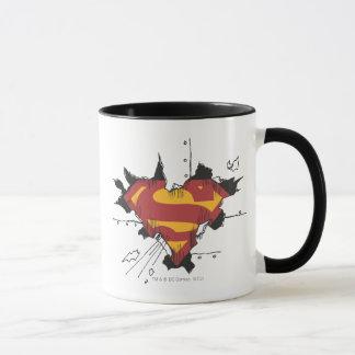 Logo cassé en métal du S-Bouclier | de Superman Tasse