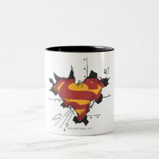 Logo cassé en métal du S-Bouclier | de Superman Tasse 2 Couleurs