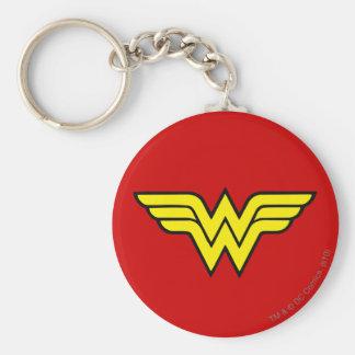 Logo classique de la femme de merveille | porte-clé rond