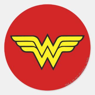 Logo classique de la femme de merveille | sticker rond